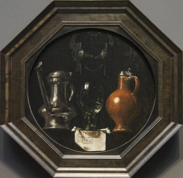 Emblematic Still Life with Flagon, Glass, Jug and Bridle, Johannes Torrentius, 1614