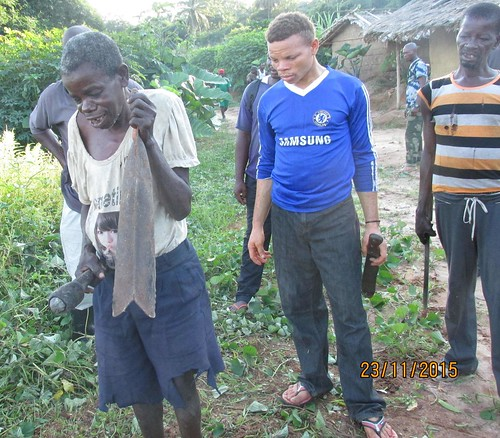 Bongweli Musanga at the cleaning of Kapere's grave