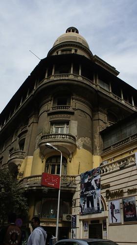 An old building at Emad El-Din street عمارة فى شارع عماد الدين