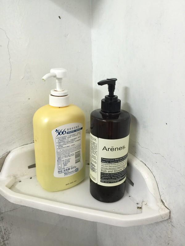 浴室有提供沐浴乳和洗髮精