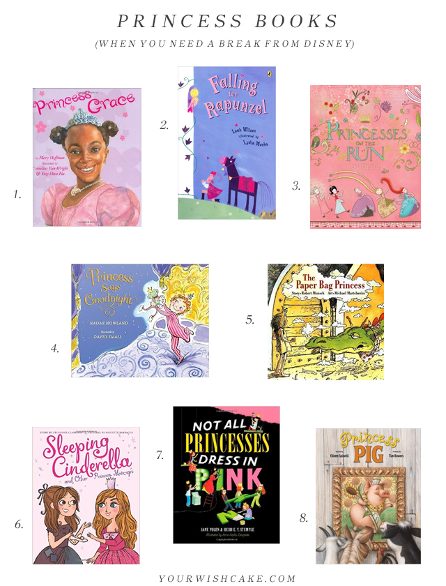 princess books (when you need a break from Disney!) | yourwishcake.com