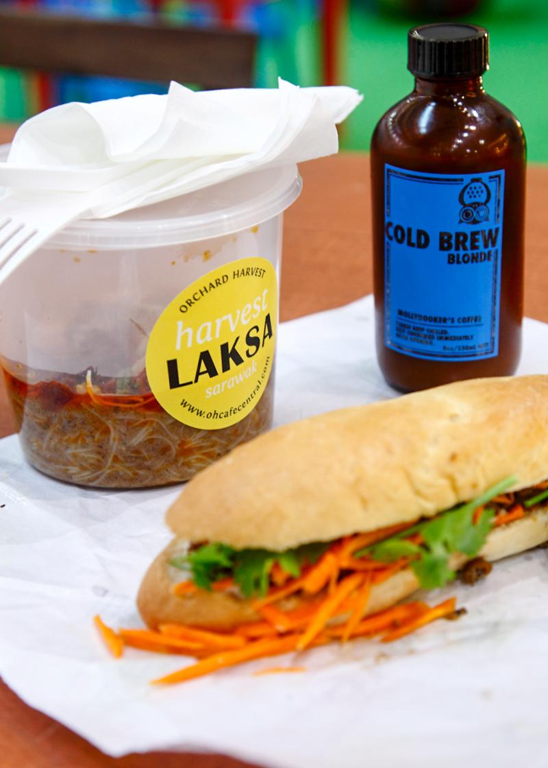 Maple Food Market Laksa Sandwich Coffee