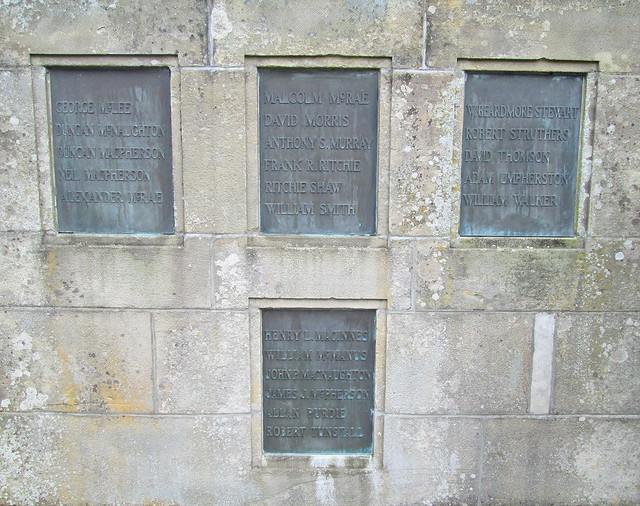 Cardross War Memorial Names