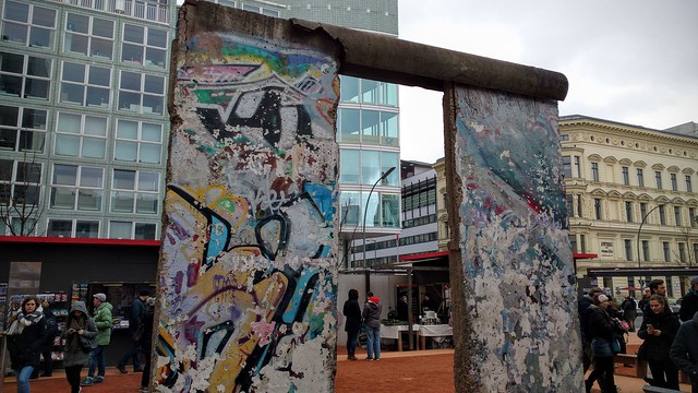 Berlin Wall exhibit at Checkpoint Charlie