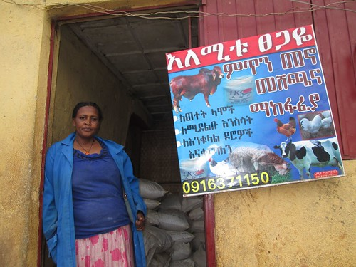 LIVES initiated feed supply shop in SNNP Region (Photo Credit:ILRI\Yoseph Mekasha)