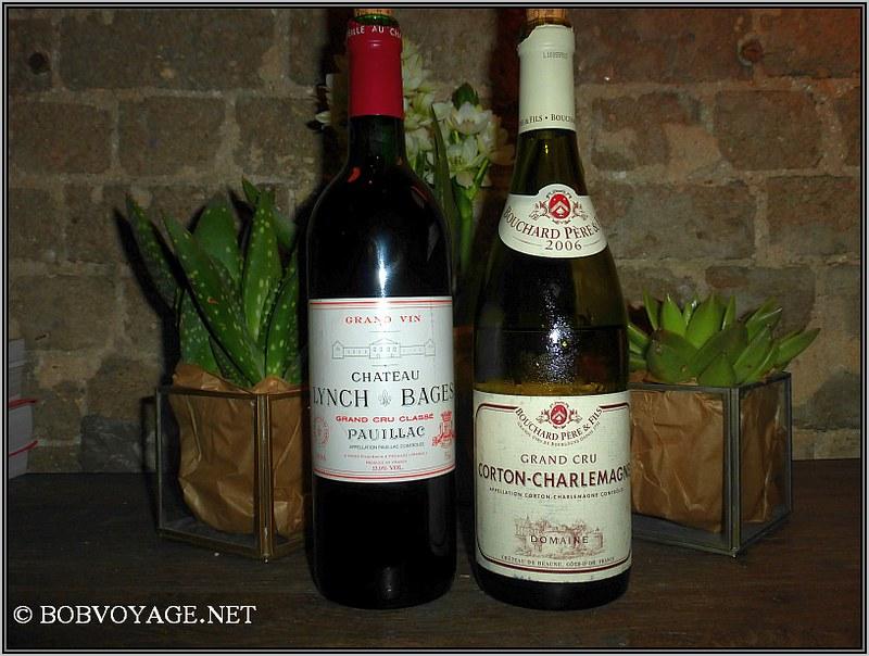 Bouchard Corton Charlemagne Grand Cru 2006 ו - Chateau Lynch Bages Pauillac 1996 ב- OCD
