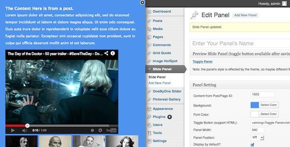 Slide Panel WordPress Plugin v1.0