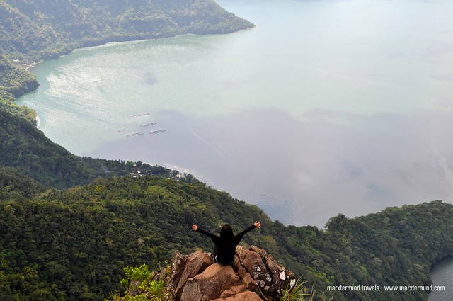 Elal enjoying the view of Taal Lake at The Rockies Mount Maculot