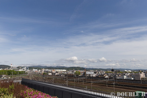 Kyoto Railway Museum (85) Museum 3F / view from Sky terrace (Kyoto tower, Toji temple etc.)