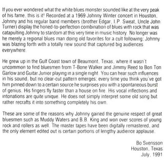 Johnny Winter - Live in Houston
