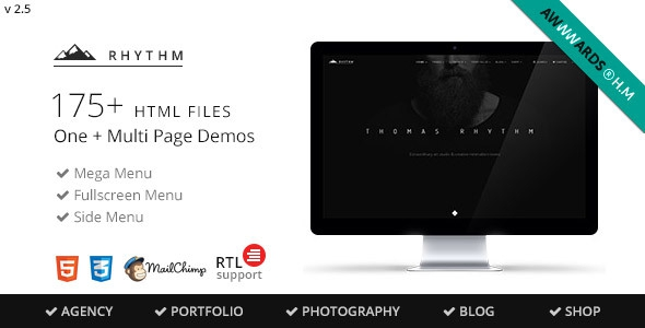 Rhythm v2.8 – Multipurpose One/Multi Page Template