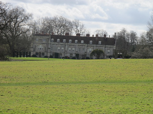 Mottisfont Abbey from footpath