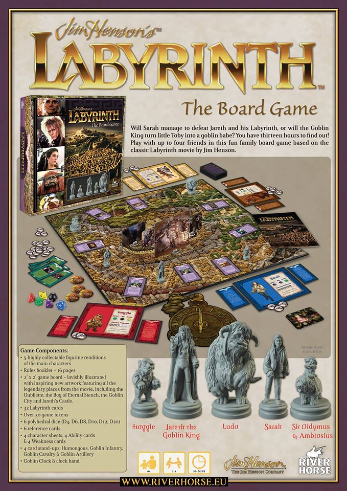 River Horse Jim Henson/'s Labyrinth The Board Game