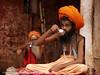 Sadhu breakfast, Varanasi ghats, India