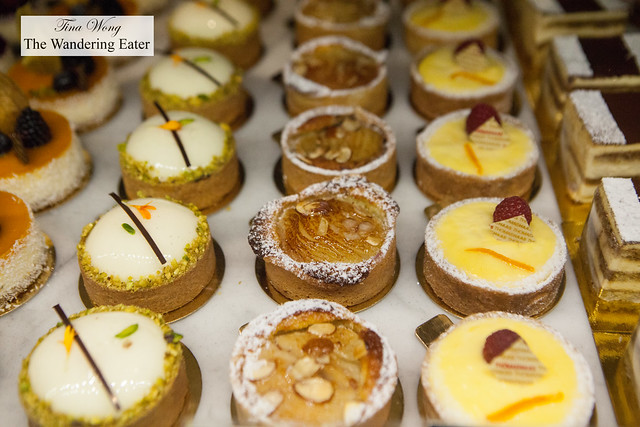 Rows of beautiful tarts