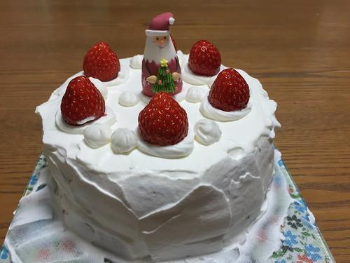 娘ちゃんとままさんが作ったクリスマスケーキ