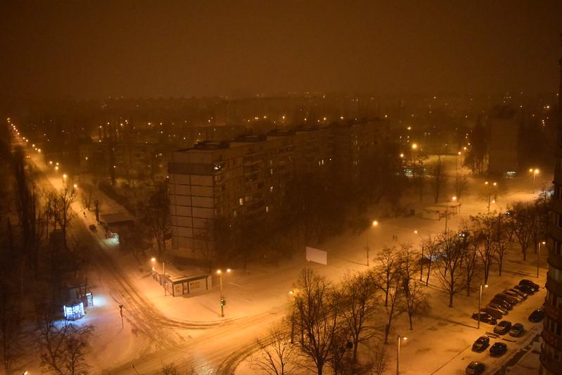 Night in Kharkiv