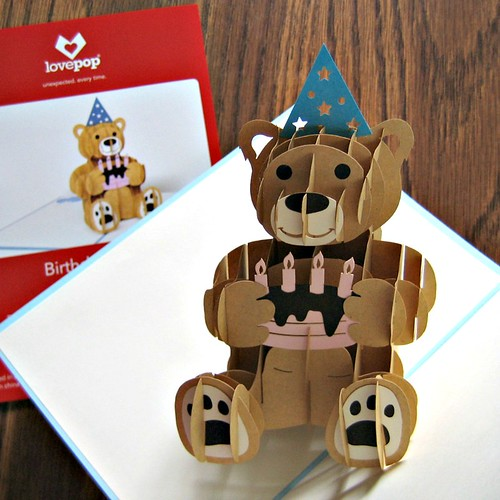LovePop Cards - Birthday Bear