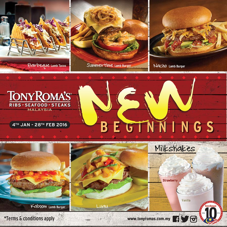 tony romas lamb burger