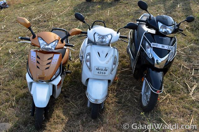 Mahindra Gusto125 vs Activa125 vs Suzuki access 125 -7