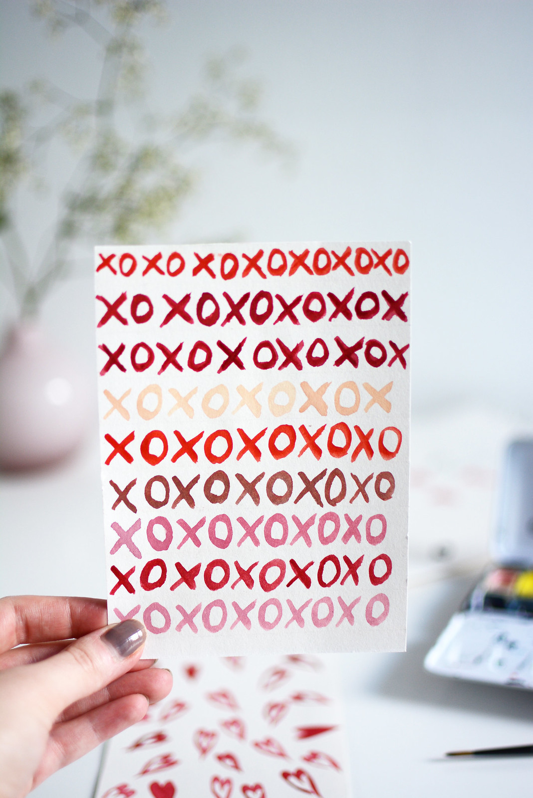 Valentinstagskarte XOXO