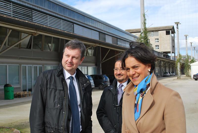 Riccardo Delleani di Olivetti in visita a Città della Scienza