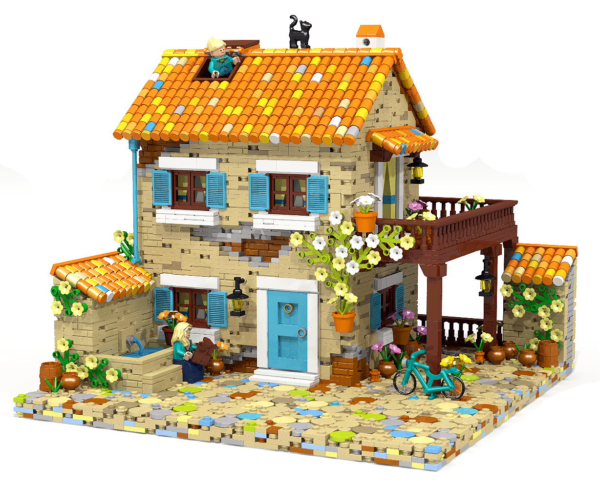 Gorgeous provence house moc lego for House building ideas