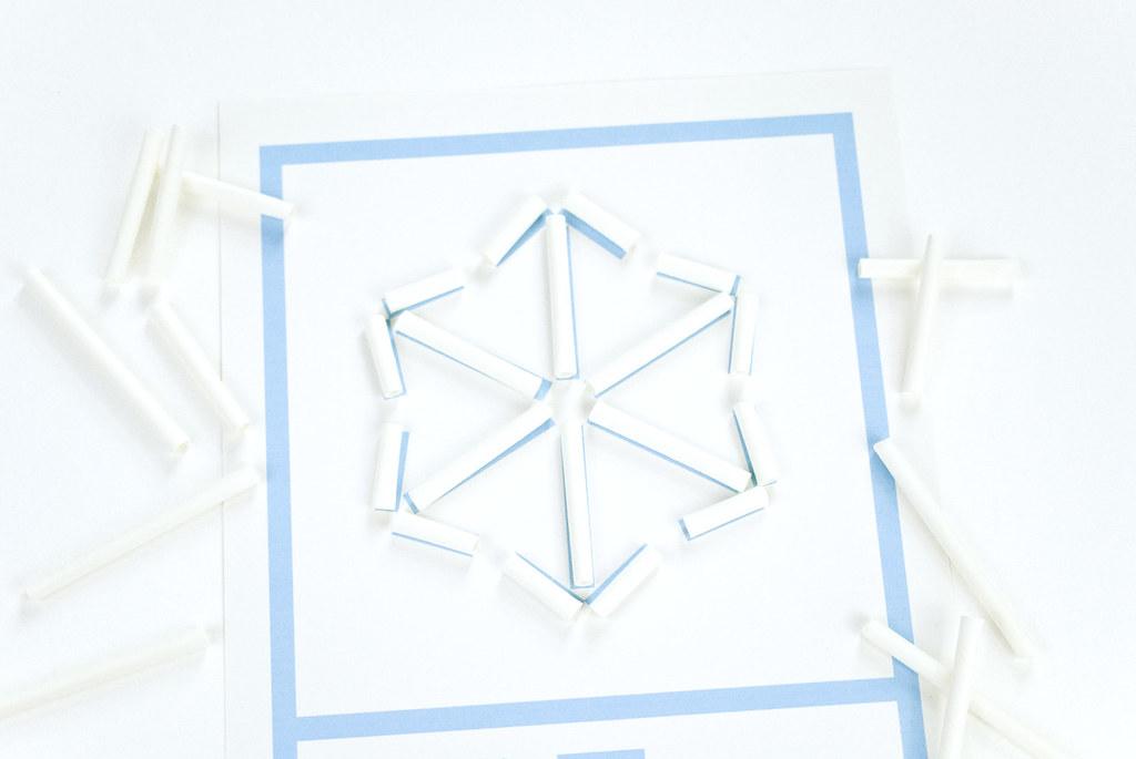 Straw Snowflakes