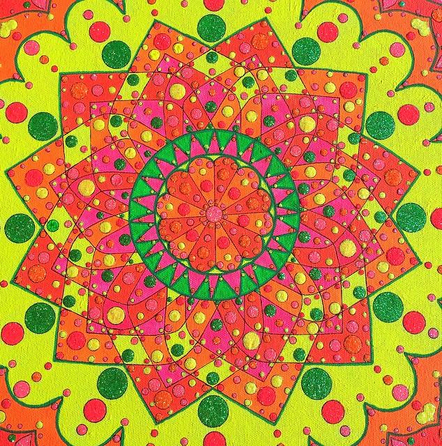 neon Mandala 3