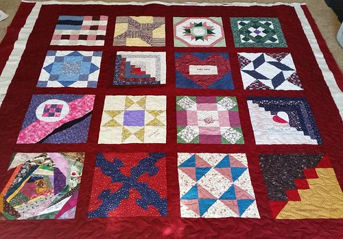 Quilted Grandma's friendship quilt today. March goals are staying on track.