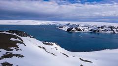 Cieśnina Fildes, Wyspa Nelsona, Zatoka Maxwella, ze wzgórza Św. Teresy