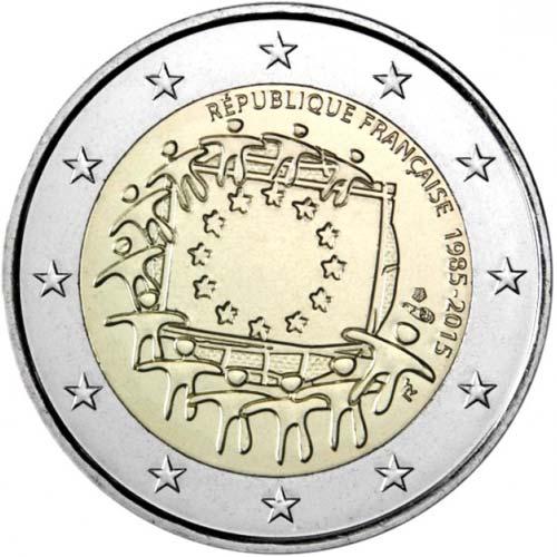 2 Euro Francúzsko 2015, Vlajka EÚ