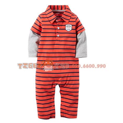 Quần áo trẻ em, bodysuit, Carter, đầm bé gái cao cấp, quần áo trẻ em nhập khẩu, M28545-Body dài chân Carter's nhập Mỹ:12M; 18M; 24M