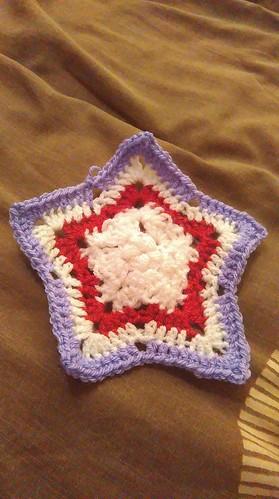 Crochet star, the beginning