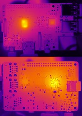 R-Pi 3 thermal image front and back