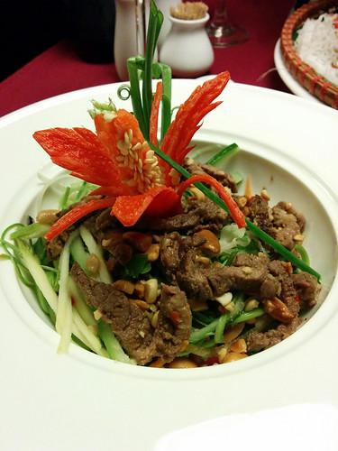 beef papaya salad @ Gia Ngu Restaurant