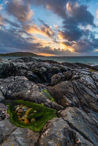 blue ireland sunset sea orange seascape pool rocks glow stones orangeglow 500px ifttt