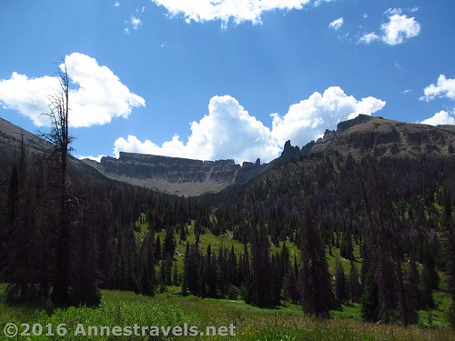 Cirques above the trail to Bonneville Pass, Shoshone National Forest, Wyoming