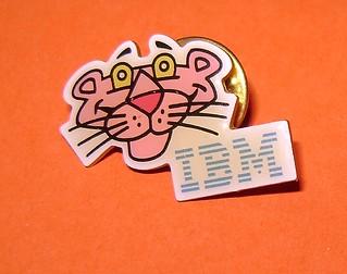 PANTERA ROSA - PINK PANTHER 80s IBM promo pin - spilla