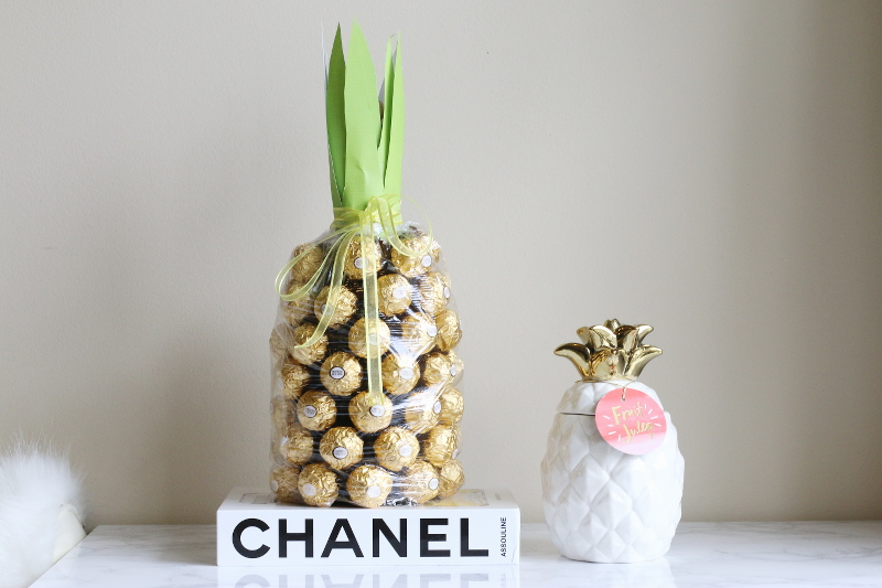 DIY pineapple chocolate wine decoration, home, design