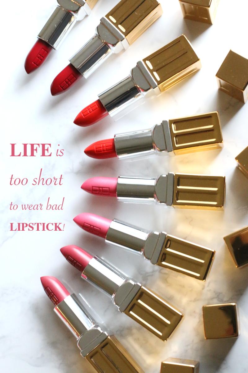 Elizabeth Arden moisturizing lipstick, plumping lipstick, lipstick quote