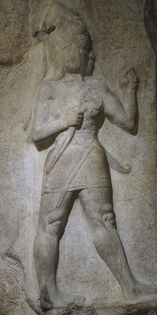 Limestone relief of God of War, from Hattusa, 14-13th century BC, Museum of Anatolian Civilizations, Ankara