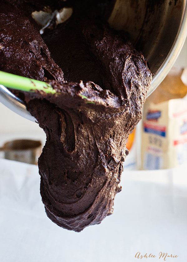 a deep, dense chocolate batter for the perfect chocolate brownies