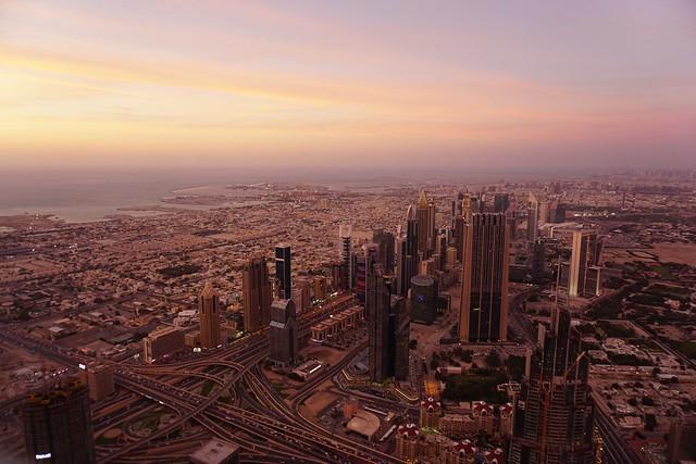 At the Top of Burj Khalifa / Dubai