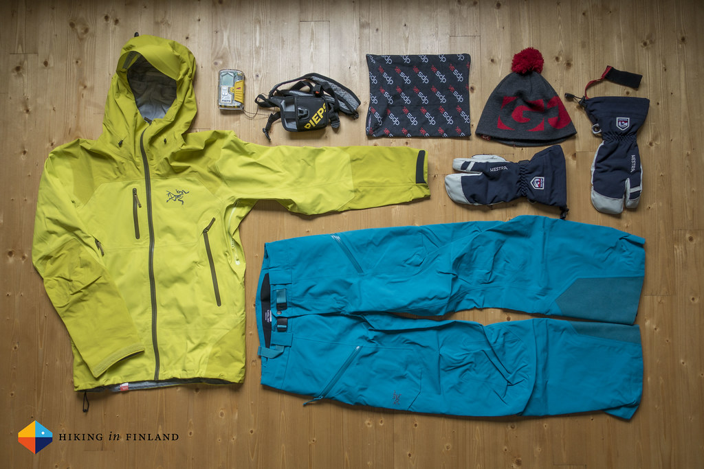 Arc'teryx Hardshell Combo, PIEPS and accessories