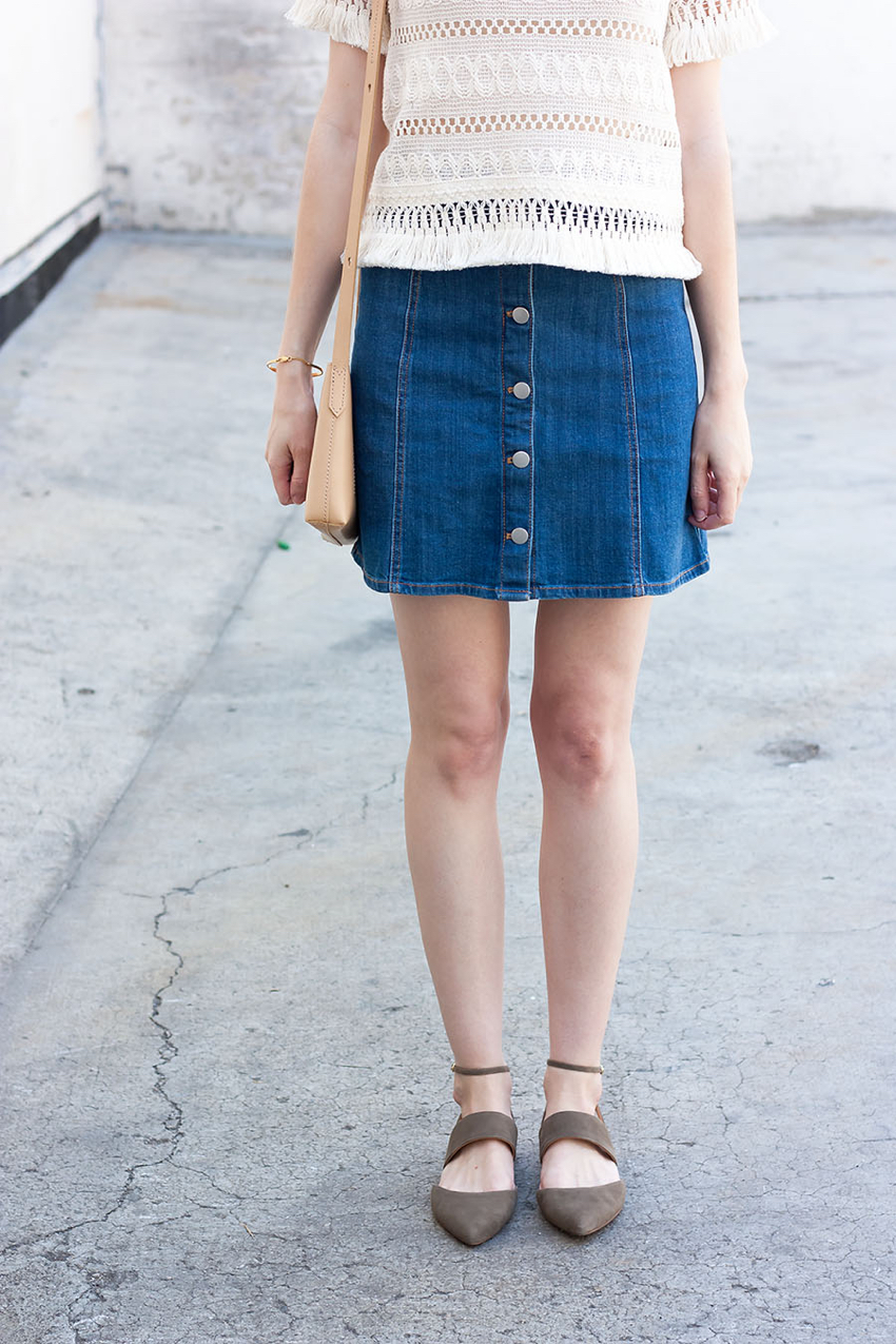 Banana Republic Ankle Strap Flats, 70's Style Outfit