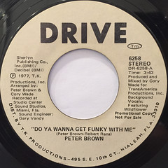 PETER BROWN:DO YOU WANNA GET FUNKY WITH ME(LABEL SIDE-B)