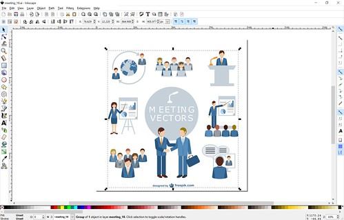 Inkscape ฟรีแวร์สำหรับทำกราฟิกแบบเวกเตอร์