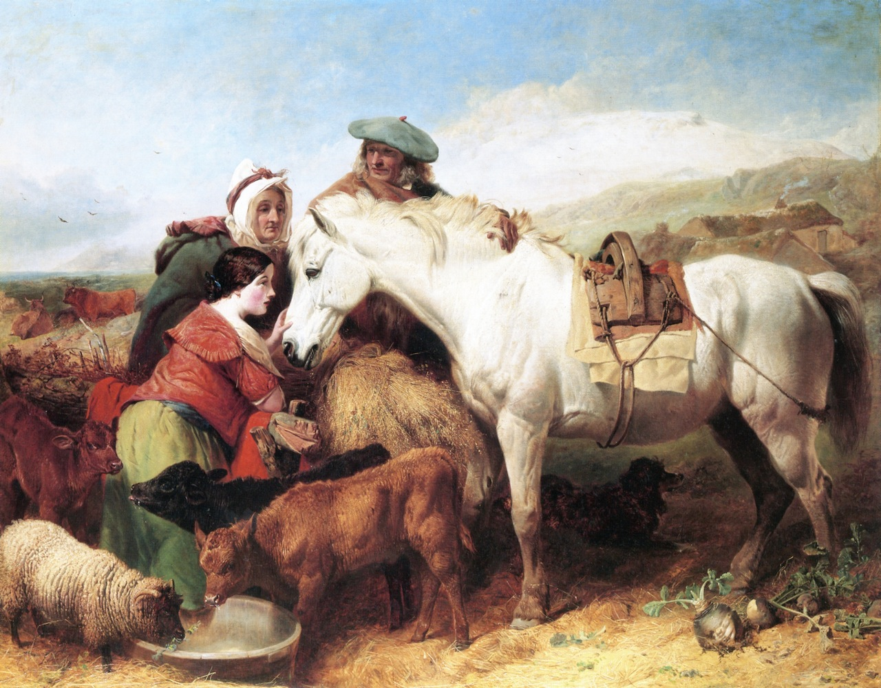 The Auld Farmer's New Year's Gift to His Auld Mare Maggie by Richard Ansdell - 1851.