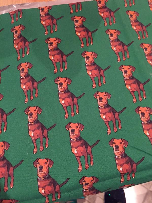 Secret Quilter swap: Kim's Dog tote
